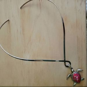Sterling silver turtle necklace and earring set